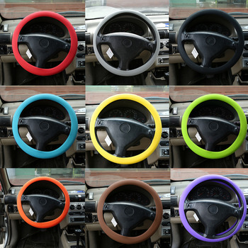 newest Fashional Decoration New Soft Silicone Steering Wheel Cover Shell Skidproof Odorless Eco-Friendly Protector For Car hot image