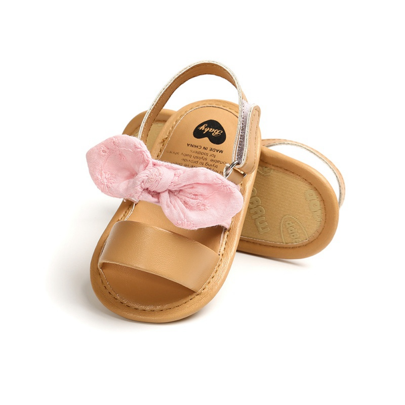 Summer Baby Girls Cute Sandals Bow PU Leather First Walkers Soft Bottom Anti-Slip Shoes Girl Toddler Princess Shoe12