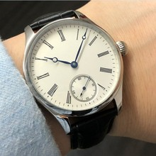 40mm no logo Enamel White dial Asian 6498 17 jewels Mechanical Hand Wind movemen