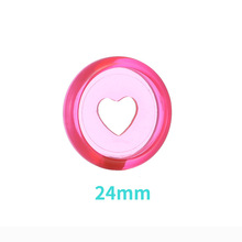 24mm 50PCS candy color heart-shaped binder for portable notebook DIY CD loose-leaf binding ring supplies