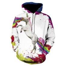 Худи мужское с 3d принтом pegasus модная цветная кофта в стиле