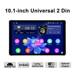 Image 2 - 신제품 자동차 라디오 2din 멀티미디어 안드로이드 10 헤드 유닛 4 기가 바이트 64 기가 바이트 HD 1280*800 Autoradio 오디오 시스템 Carplay 4G 블루투스 DVR