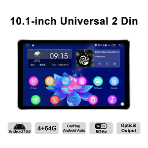 Image 2 - Yeni ürün araba radyo 2din multimedya Android 10 kafa ünitesi 4GB 64GB HD 1280*800 Autoradio ses sistemi Carplay 4G Bluetooth DVR