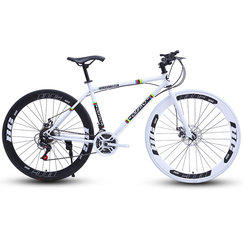 Road Bike Bicycle Double Disc Brake Speed 26 Inch Dead Fly Fixed Gear Men And Women 60 Knife Wheel Adult Students