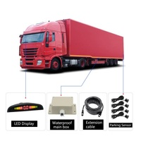 24V truck Parktronic Parking Sensor with 4 Sensors Reverse Backup trucks Parking Radar Monitor Detector System Display for Bus