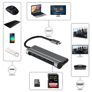 Image 2 - DZLST USB HUB Type C to USB 3.0 HDMI Card Reader PD Charging for MacBook Samsung Galaxy S9/S8 Huawei P20 Pro Thunderbolt 3 Hub