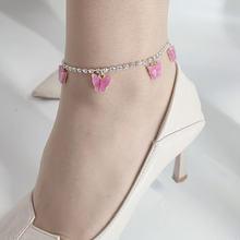 Лидер продаж новый модный браслет на ногу с бабочками из смолы