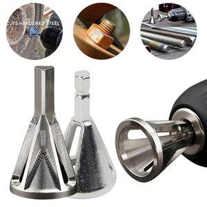 Image 1 - Ferramenta de deslocamento de aço inoxidável, ferramenta de chanfro externo, broca, workshop, triângulo hexagonal, haste rebarra, ferramenta de remoção