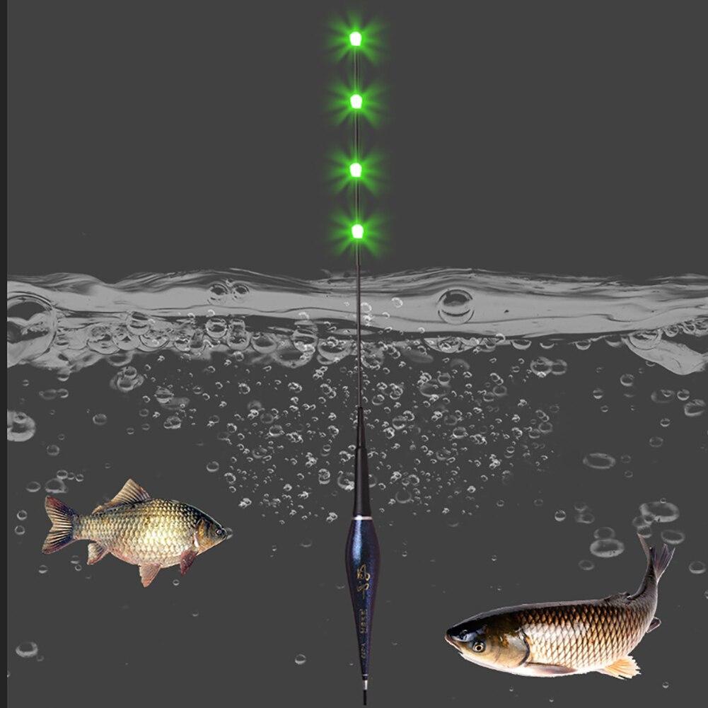 Fishing Equipment Gravity Tie Sensing Chip Stopper Smart LED Light Fishing Float Including Battery Night Accessories