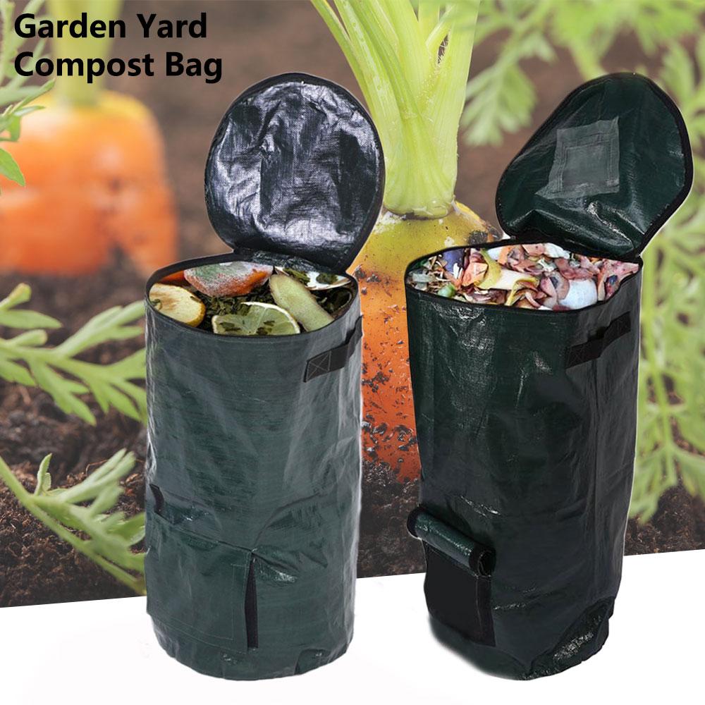 Organic Waste Kitchen Garden Yard Compost Bag Environmental PVC Cloth Planter Kitchen Waste Disposal Organic Compost Bag