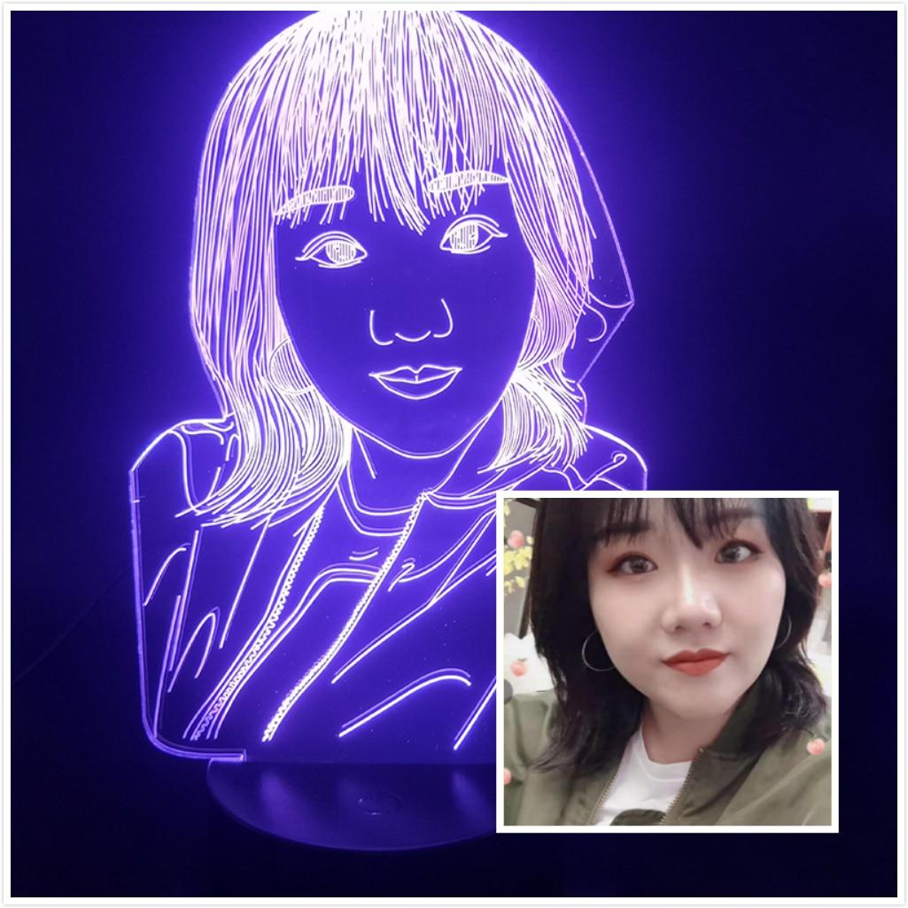 3D Lamp Custom Portrait For The Beauty Best Birthday Present For Living Room Decoration Touch Sensor Usb Led Night Light Lamp