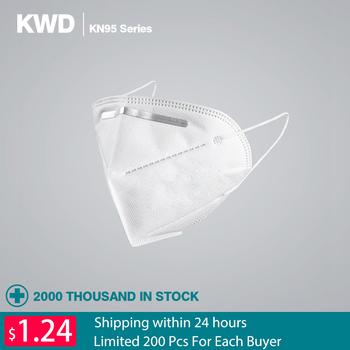 KN95 pyłoszczelna Anti-fog i oddychające maski na twarz 95 filtracji maski na usta 3-warstwa usta mufy pokrywa szybka wysyłka tanie i dobre opinie Chin kontynentalnych Osobiste Jednorazowego użytku Dla dorosłych Non-woven Fabric KN95 Solvent Spray Thermal Insulation Cotton