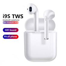 I9S TWS wireless Earbuds Mic Bass Stereo Mini bluetooth 5.0 earphones For iPhone XiaoMi Android Smart Phone PK I7S I10 I12(China)