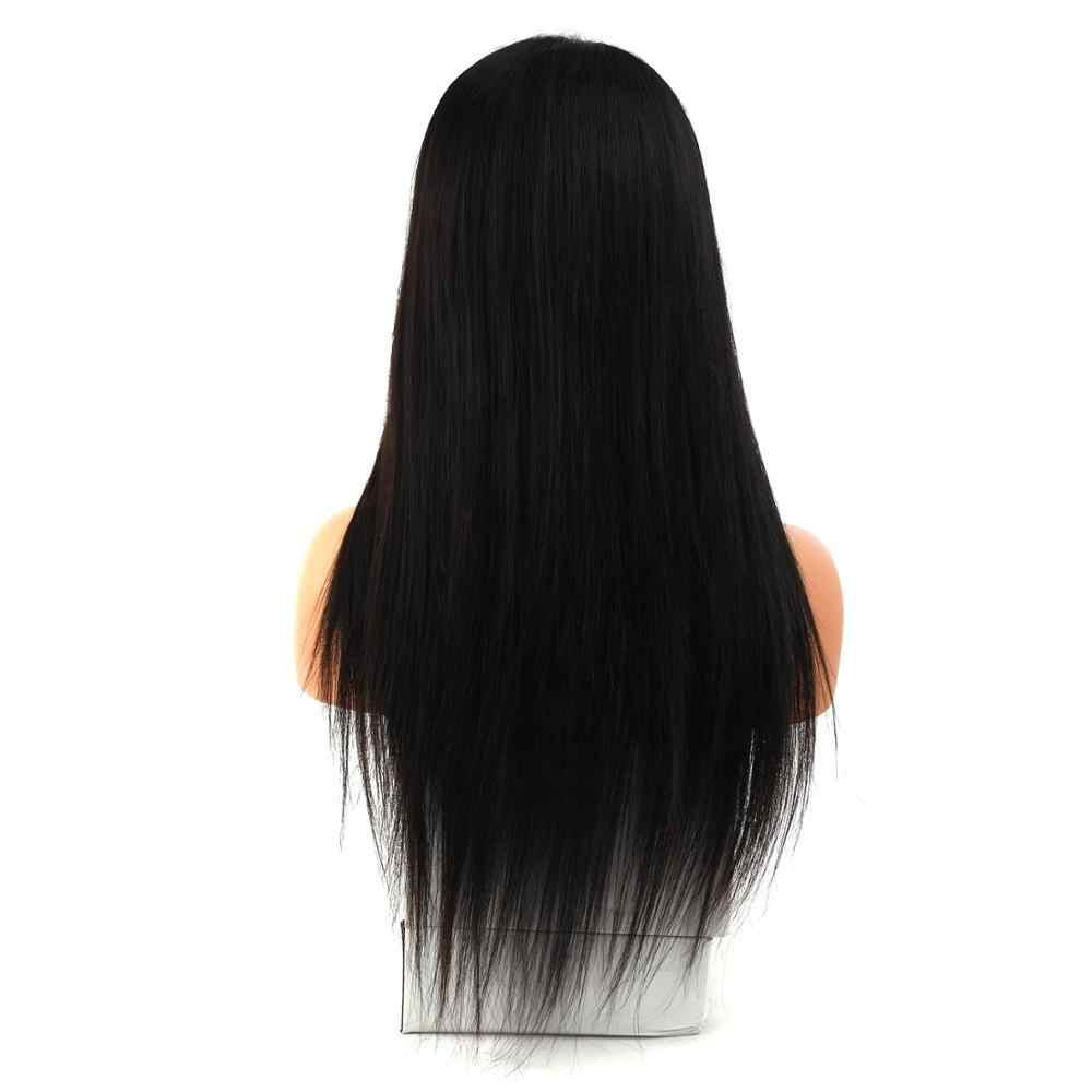 MW HD przejrzyste koronki przodu włosów ludzkich peruk wstępnie oskubane z dzieckiem włosy prosto 18 Cal 150% gęstości 360 koronki Frontal dla kobiet