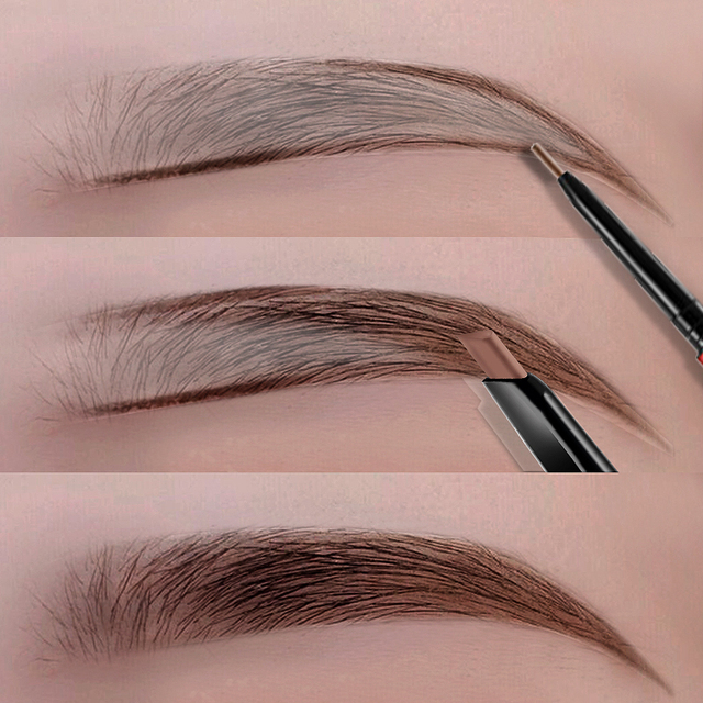 Eyes Makeup Eyebrow Pencil Waterproof Natural Long Lasting Ultra Fine Sketch 1.5mm Tint Brow Eye Brown Brows Professional Pen