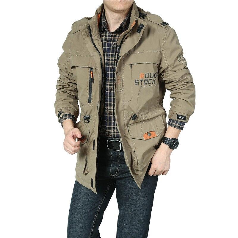 Bomber Soft Shell Jacket Men Army Jacket Breathable Windproof Raincoat Multi-pocket Waterproof Jacket Windbreaker Men Coat M-4XL