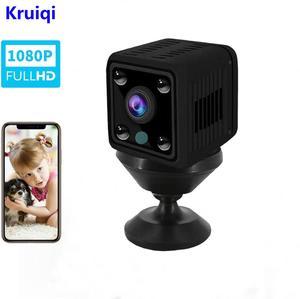 Image 1 - Kruiqiワイヤレスipカメラhd 720pミニwifiカメラネットワークP2Pベビーモニター 1080 1080p cctvセキュリティビデオカメラirカット双方向