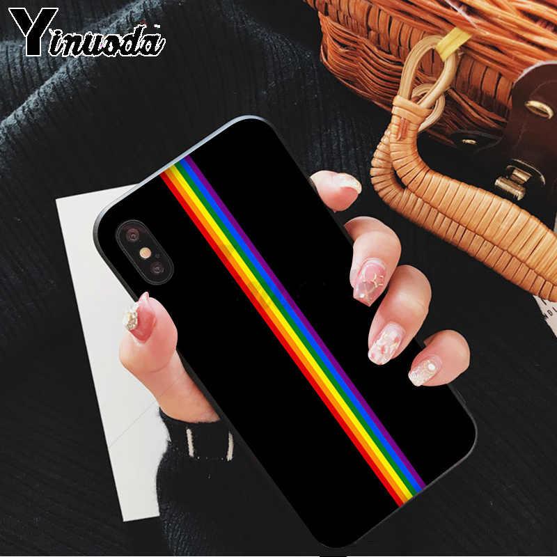 Yinuoda lezbiyenler Bisexuals transseksüel gökkuşağı LGBT fotoğraf yumuşak telefon iphone için kılıf 5 5S 6 7 7 artı 8 8 artı X XS MAX XR 11 11pro