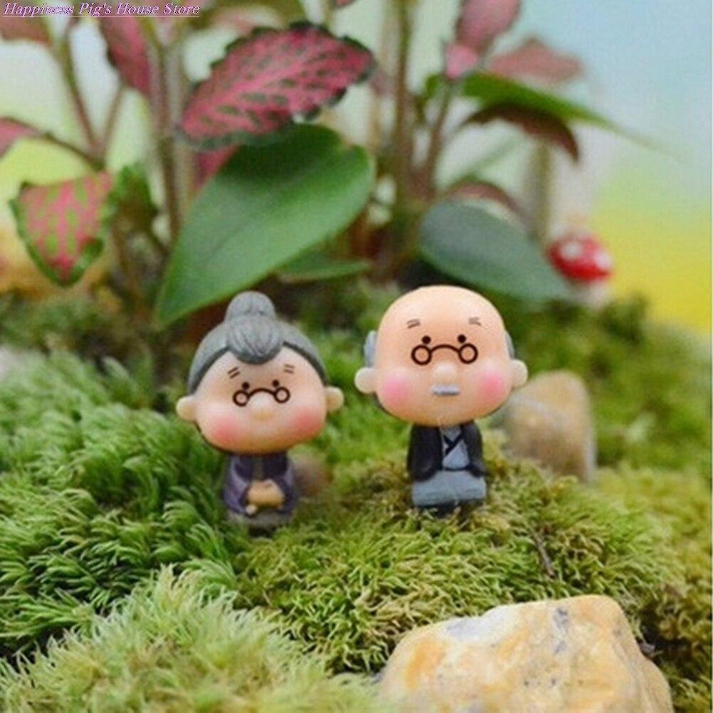 1/2 шт милые влюбленные статуэтки миниатюры Сказочный Садовый