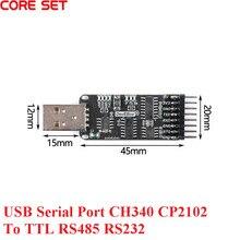 Port série USB dix-en-un CH340 CP2102 vers TTL / RS485/RS232, pleine interfoncabilité, Original, nouveau