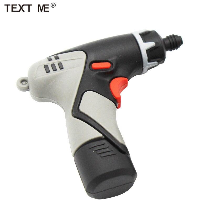 TEXT ME 64GB Cartoon Electric Drill Hammer Model Usb Flash Drive Usb 2.0 4GB 8GB 16GB 32GB  Pendrive