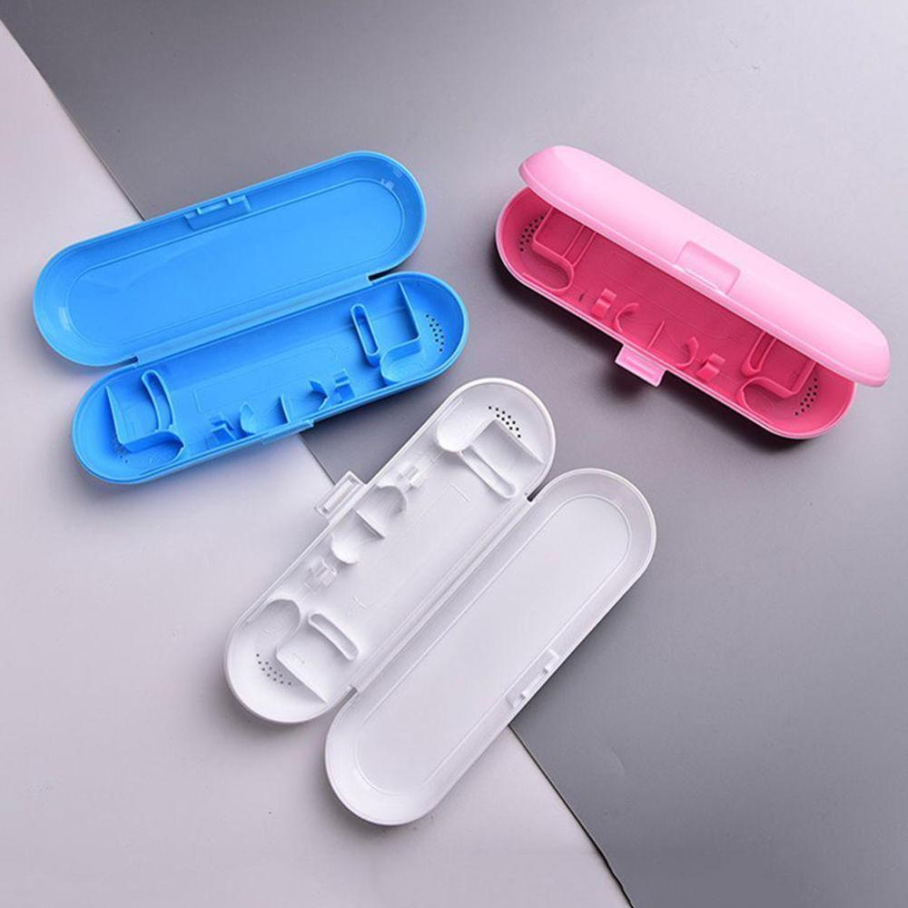 Portable Electric Toothbrush Holder Travel Safe Case Box Outdoor Tooth Brush Camping Storage Case Pink White Blue image