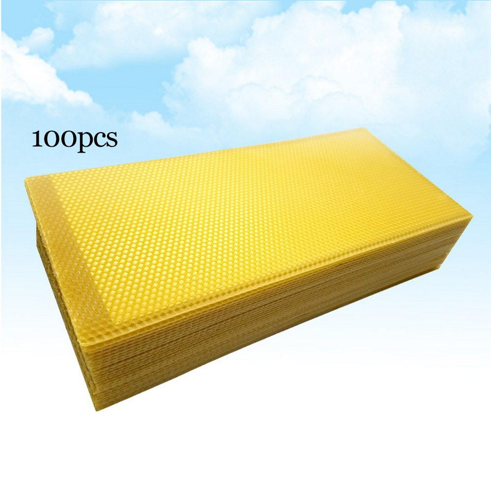 20P 100PCS Beekeeping Bee Nest Beekeeping Honeycomb Foundation BeesWax Frames Honey Hive Garden Bee Beehive Nest Beekeeping Tool