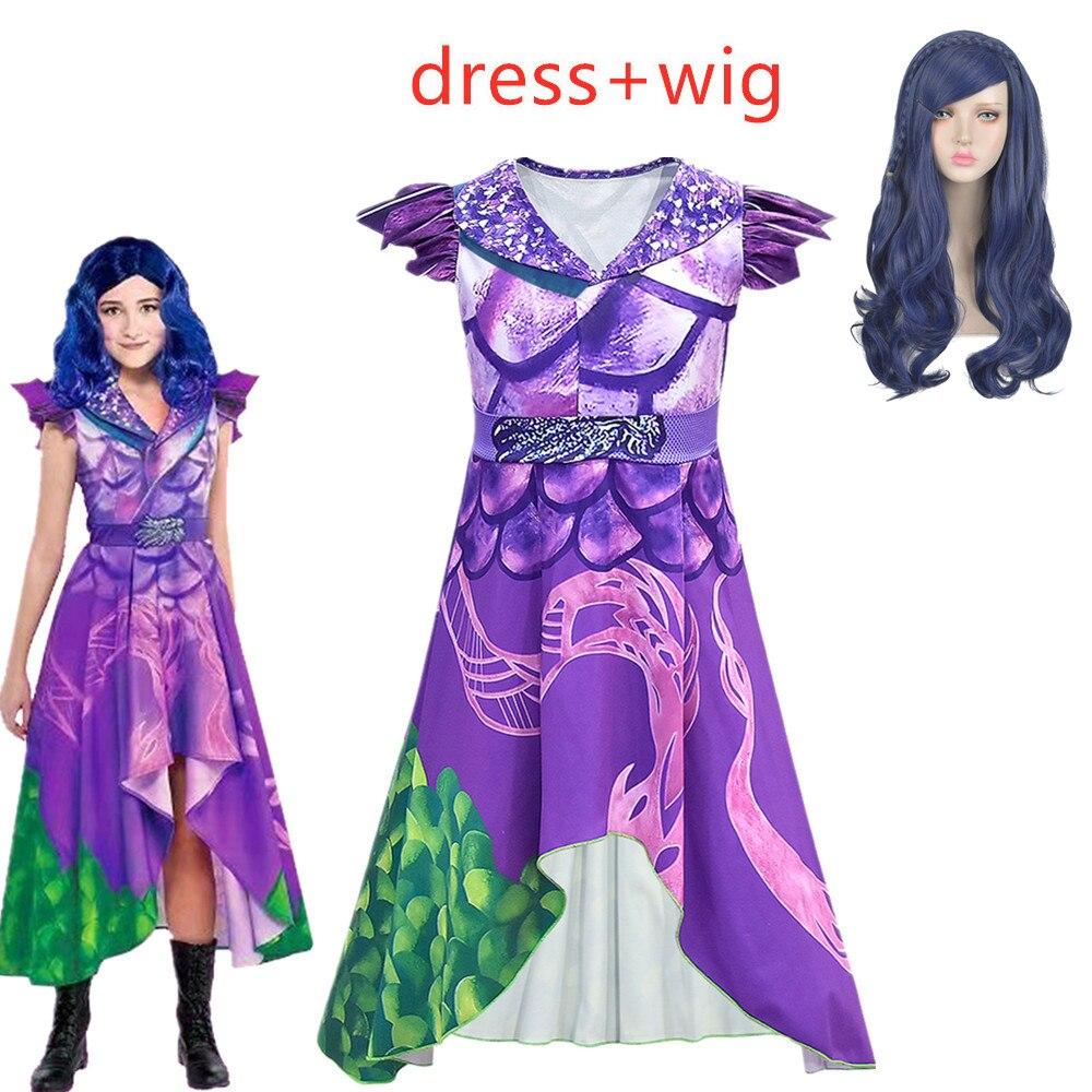 Hot Sale Descendants 3 Evie Cosplay Dress Mal Costume Top Pants Full Set Adult Women Kids Halloween Carnival Costume For Girls