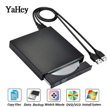 цена на 2016 HOT selling New USB 2.0 External DVD Combo CD-RW Burner Drive CD+-RW DVD ROM Portatil Black Promotion