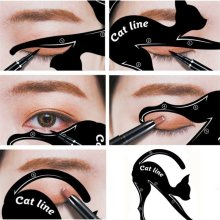 1 PC ใหม่ Cat Line Eye Makeup Eyeliner Stencils(China)