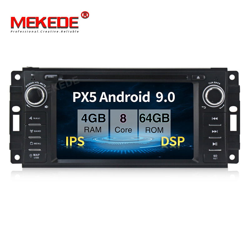 PX5 android 9.0 4GB+64GB Car multimedia Player Navigation GPS DVD for JEEP Wrangler Compass Patriot <font><b>Grand</b></font> <font><b>Cherokee</b></font> Commander image