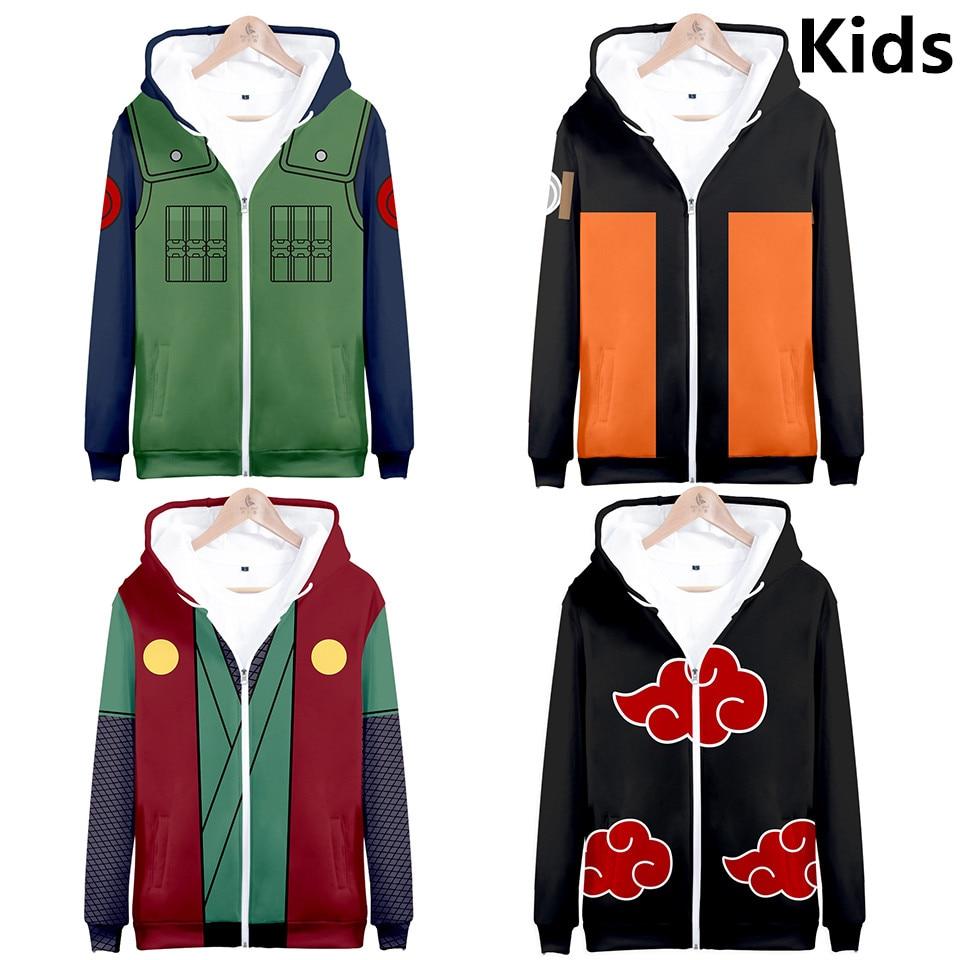 3 to 14 years kids hoodie Anime Naruto 3d printed hoodies sweatshirt boys girls Uchiha Itachi Kakashi Jacket children clothes