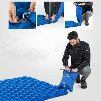 Inflatable Air Sleeping Mattress With Inflatable Bag, Thick Damp-proof Portable Double Person Bed Outdoor Camping Mat Pad