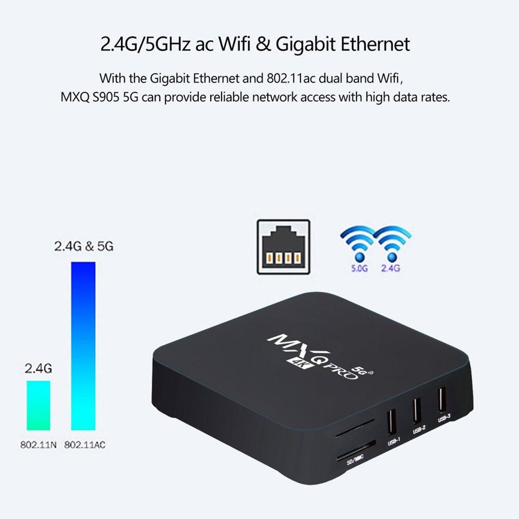 5G 4K lecteur réseau décodeur Android maison télécommande lecteur multimédia intelligent TV Box Version RK3229-5G