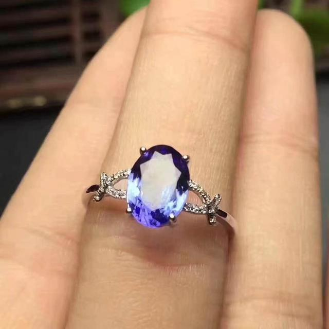 Tanzanite Ring Natural And Real Tanzanite Ring  luxury ring  925 sterling silver Fine jewelry