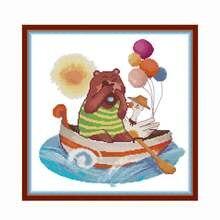 Набор для вышивки крестиком bear joy sunday 14ct 11ct