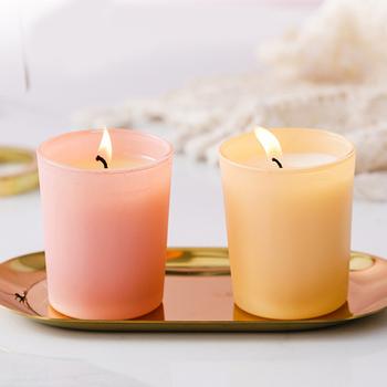 Nowy H świece zapachowe styl skandynawski aromaterapia bezdymna świeca w kształcie filiżanki romantyczna dekoracja na wesele domowe imprezy SMD66 tanie i dobre opinie Filar Home decoration Świecznik świeca puchar Pachnące Wosk sojowy none