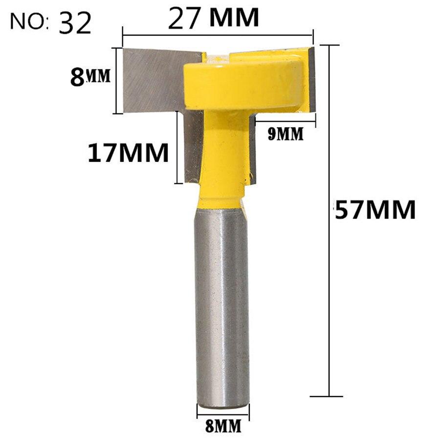 1 шт. 8 мм хвостовик триммера Ceaning Flush Trim древесины фрезы прямой конец Milll вольфрамовые фрезы для дерева Деревообрабатывающие инструменты - Длина режущей кромки: NO 32
