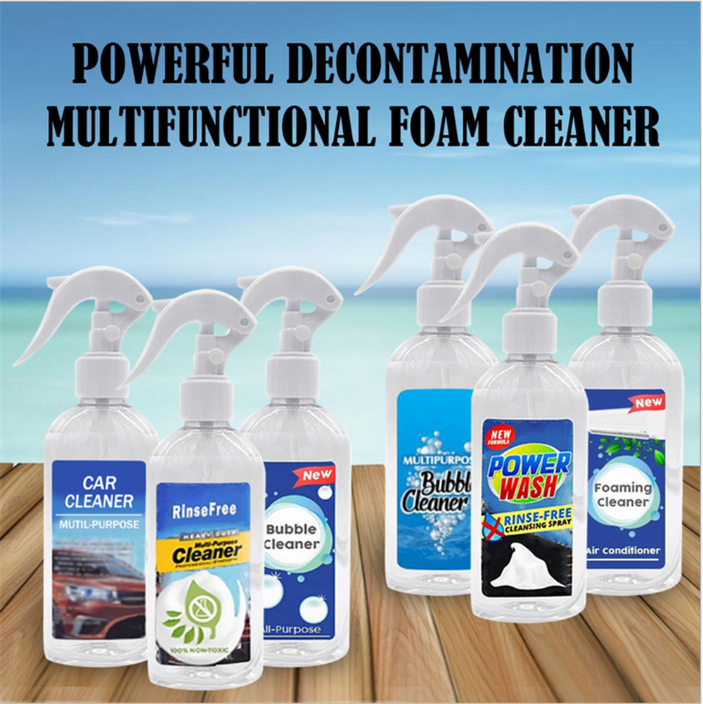 Foam Cleaner Rinse Free Spray Grease Stains Remover All-Purpose Household Bubble For Car Home