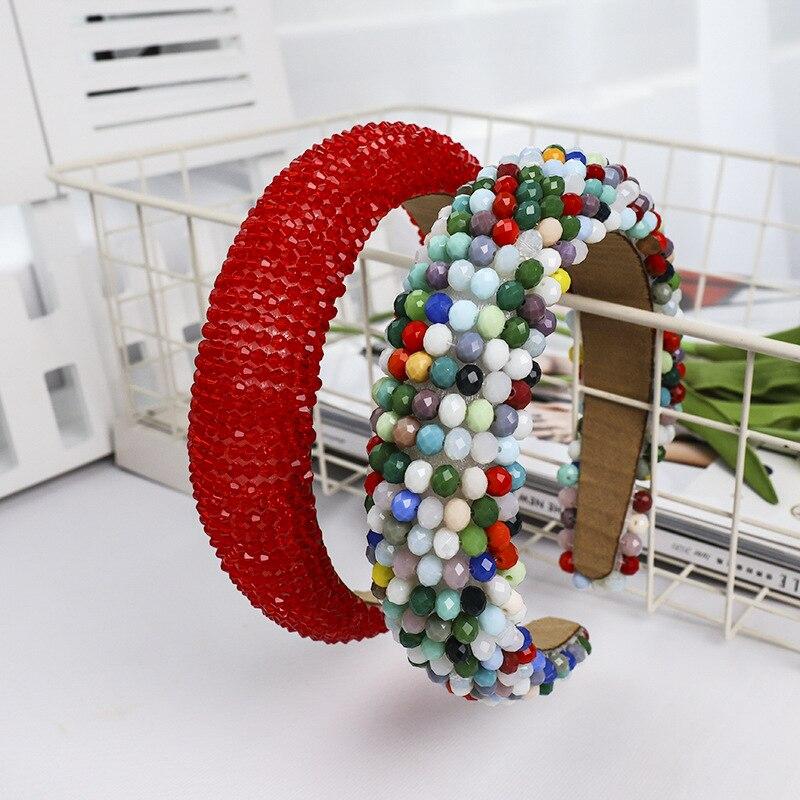 Fértil Barroco Cristal Headband Para As Mulheres