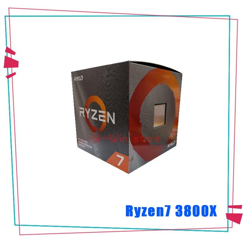 New Amd Ryzen 7 3800x R7 3800x 3 9 Ghz Eight Core Sixteen Thread Cpu Processor 7nm L3 32m 100 000000025 Socket Am4 With Fan Cpus Aliexpress