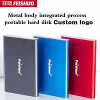 Individuelles logo Tragbare Externe Festplatte USB 3,0 120g 500g 1TB 2TB Speicher HDD Externe HD festplatte für PC, mac, Tablet, Xbox, PS4