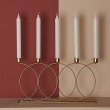 Candlestick Metal Wedding-Centerpiece Home-Decor Nordic-Style Dinner 3D
