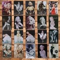 Классический фильм красота наклейки на стену Паб Клуб металлическая пластина с винтажным рисунком художественная железная живопись табли...