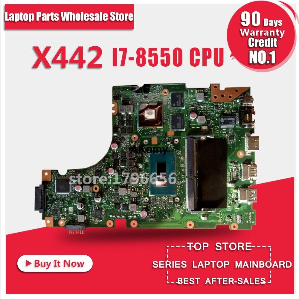 For ASUS X442 X442U X442UQ  I7-8550 CPU Laptop Motherboard System Board Main Board Mainboard Card Logic Board Tested Well