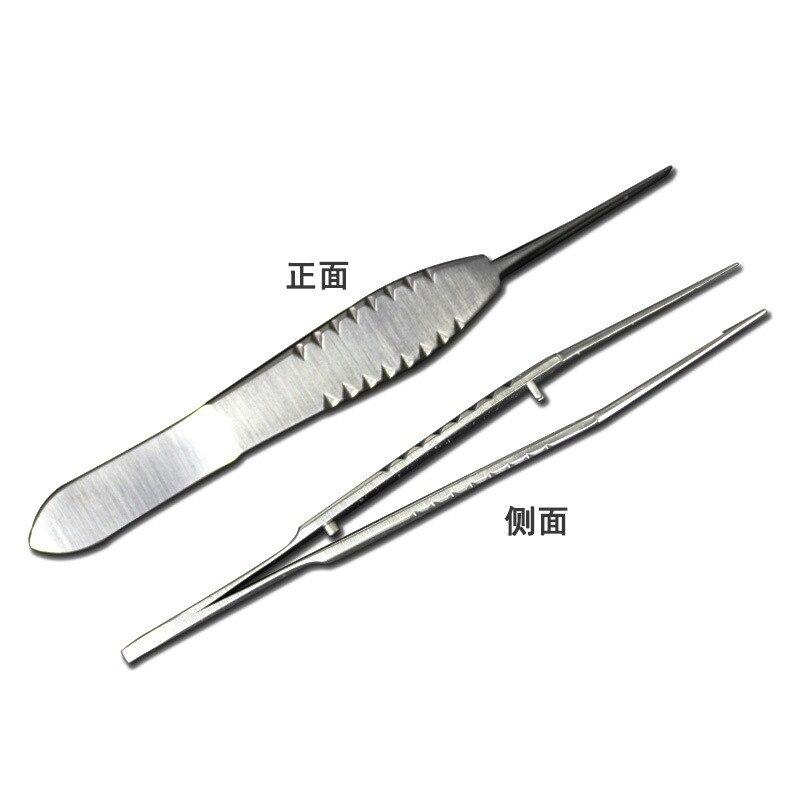 8.5cm amarrando pinças de aço inoxidável pinças micro instrumento cirúrgico laboratório alta qualidade ferramentas prática ensino
