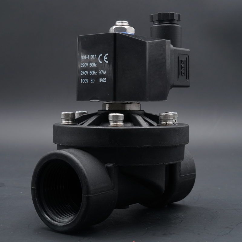 Valve Solenoid Valve, Water Valve, Plastic  Valve Normally Closed /open,1/4