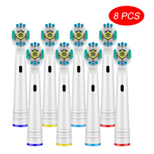 3D Whitening Electric Toothbrush Replacement Brush Heads Refill For Braun Oral B Toothbrush Heads Wholesale 8Pcs Toothbrush Head