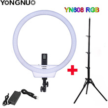 YONGNUO YN608 RGB LED וידאו אור צילום וידאו טבעת אור 5500K + RGB מלא צבע עם מרחוק בקר עבור לחיות וידאו Selfie