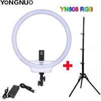 YONGNUO YN608 RGB LED Video Licht Fotografie Video Ring Licht 5500K + RGB Full Kleur met Afstandsbediening voor live Video Selfie